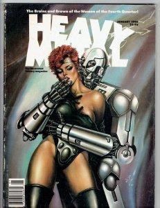 Heavy Metal  Magazine January 1990 Gimenez Geary Ovi Hondru Cover
