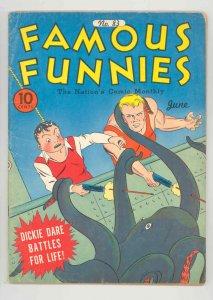 FAMOUS FUNNIES #83 HISTORIC SUPERHERO ORIGIN .1941, BUCK ROGERS - VIOLENCE  FN++