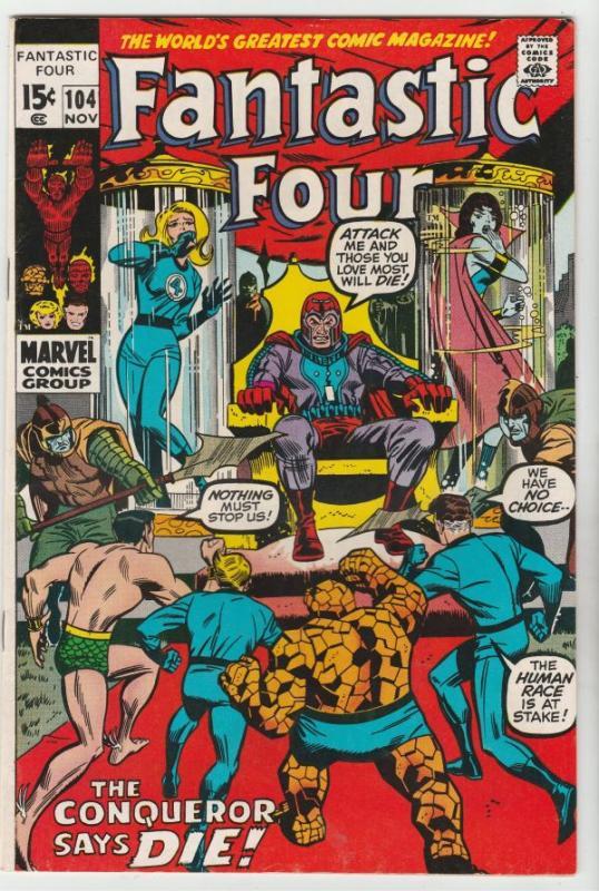 Fantastic Four #104 (Nov-70) NM- High-Grade Fantastic Four, Mr. Fantastic (Re...