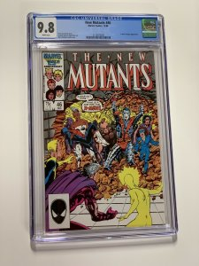 New Mutants 46 Cgc 9.8 White Pages Marvel X-men Copper Age
