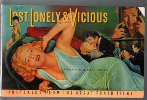 Lost, Lonely & Vicious-Post Card Book 1988-5 x 8 postcards-exploitation movies-F