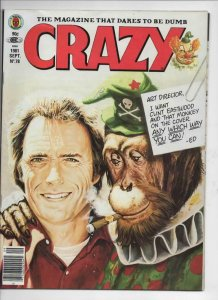 CRAZY #78 Magazine, FN, Clint Eastwood, Teen Hulk, 1973 1981, more in store
