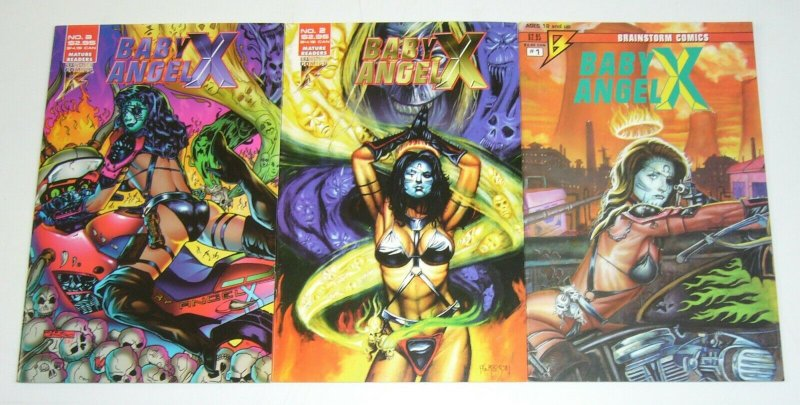 Baby Angel X #1-3 FN/VF complete series - scott harrison - brainstorm comics set
