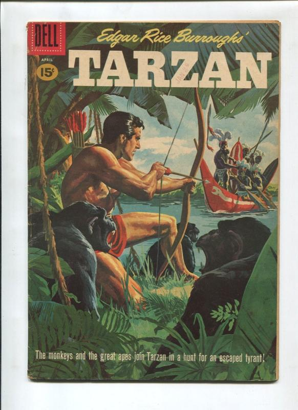 TARZAN #123 1961-DELL-EDGAR RICE BURROUGHS-FN