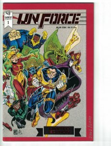 U.N. Force #1 VF limited edition signed & numbered (3,263 of 5,000) gauntlet