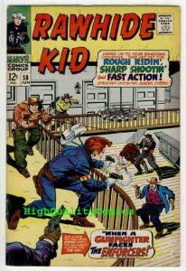 RAWHIDE KID #58, VF-, Enforcers, Larry Lieber, Western, Guns, Wolf, The Judge