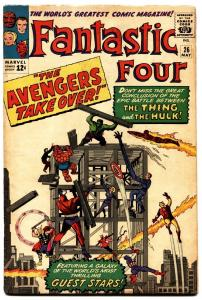 FANTASTIC FOUR #26 1964-MARVEL-AVENGERS-JACK KIRBY-nice copy.