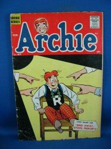 ARCHIE COMICS 107 VG  1960