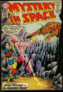 MYSTERY IN SPACE #68 DC 1961 ADAM STRANGE TIGER COVER VG