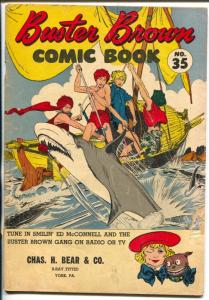 Buster Brown #35 1950's-shark cover-Reed Crandall-G/VG