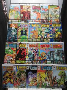Dinosaurs Comic Sampler Lot B 31Diff Turok Devil for Hire Ripping Roaring Tales!