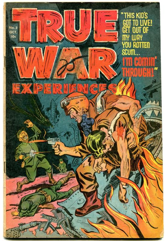 TRUE WAR EXPERIENCES #3 1952 BLOODY KOREAN WAR VIOLENCE VG