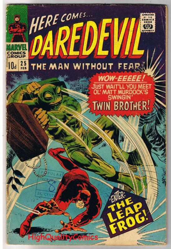 DAREDEVIL #25, VG, Gene Colan, Leap Frog,Stan Lee, 1964, more DD in store