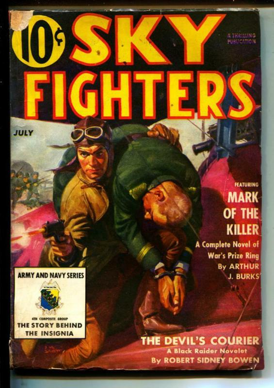 Sky Fighters-Pulps-7/1939-Arthur J. Burks-Hal White
