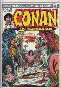 Conan the Barbarian #33 (Dec-73) VF/NM High-Grade Conan the Barbarian