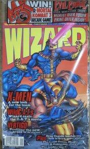 WIZARD Magazine #49 (Sept 1995)  POLYBAGGED! X-Men cover, Vertigo article