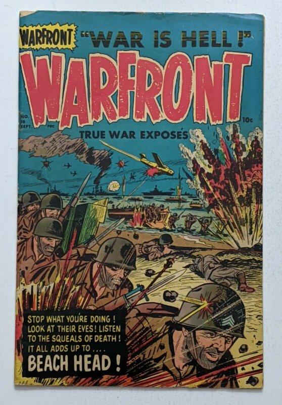 Warfront #10 (Sept 1952, Harvey) VG 4.0 Bob Powell art