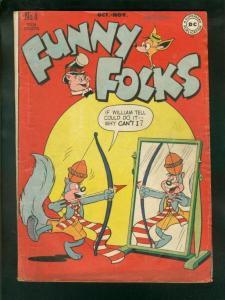 FUNNY FOLKS #4 1946-1st NUTSY SQUIRREL -DC COMICS VG