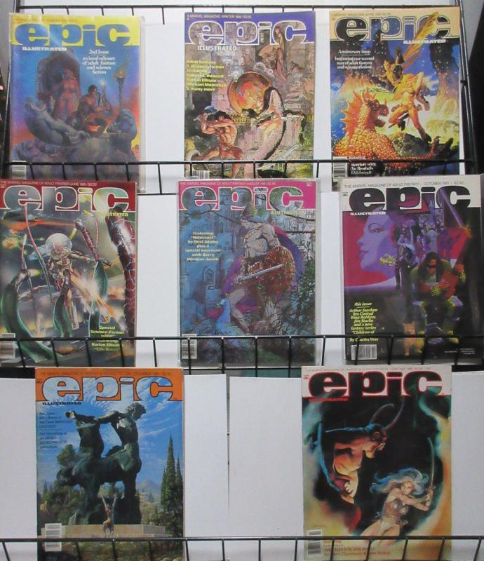 Epic Illustrated (Marvel 1980-84) #2-27 Lot of 16Diff Fantasy Scifi Heavy!
