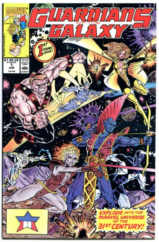 GUARDIANS of the GALAXY 1, VF, Jim Valentino, StarHawk, 1990, more in stock