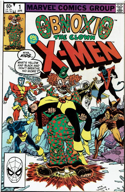 Obnoxio the Clown vs. The X-Men #1, 9.0 or better
