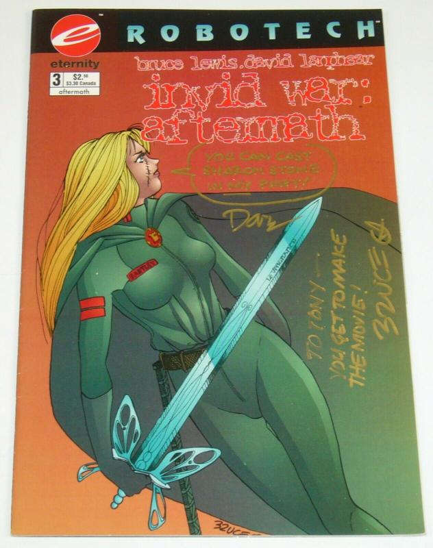Robotech: Invid War Aftermath #3 VF; signed by Bruce Lewis + David Lanphear