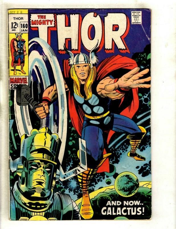 Thor # 160 VF- Marvel Comic Book Loki Odin Sif Avengers Hulk Iron Man GK4