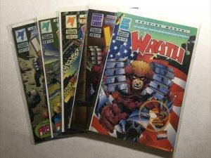 Wrath 1 2 3 4 5 Lot Run Set Near Mint Nm Malibu