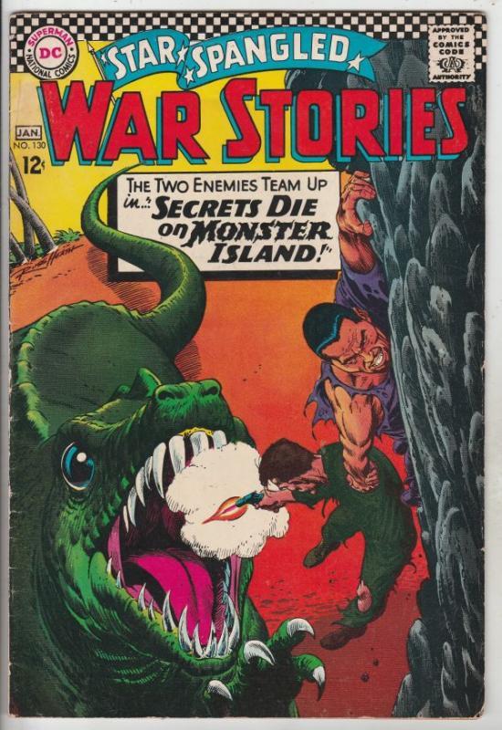 Star Spangled War Stories #130 (Jan-67) FN Mid-Grade War That Time Forgot Din...