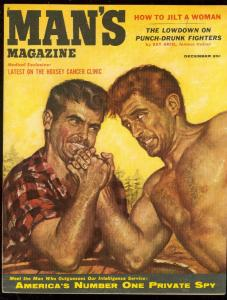 MAN'S MAGAZINE DEC 1955-BOXING-PRIVATES SPY-CANCER-PULP VF