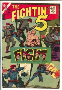 The Fightin' 5 #33 1965-Charlton-Cult Of The Black Dragon-tommy gun cover-VG
