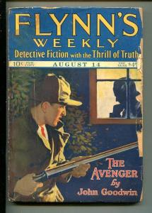 FLYNN'S WEEKLY DETECTIVE FICTION-AUG 14 1926-PULP-CLASSIC-CRIME-SHOTGUN-good-