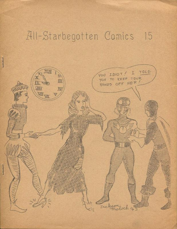 All-STARbegotten #15 1963-rare comics fanzine-4 page issue-FN
