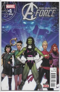 A-Force (vol. 2, 2016) #  1 NM She-Hulk, Captain Marvel, Dazzler