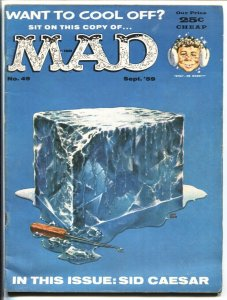 MAD #49-WACKY ISSUE-WOOD-ORLANDO-MARTIN-FREAS-1959-VG