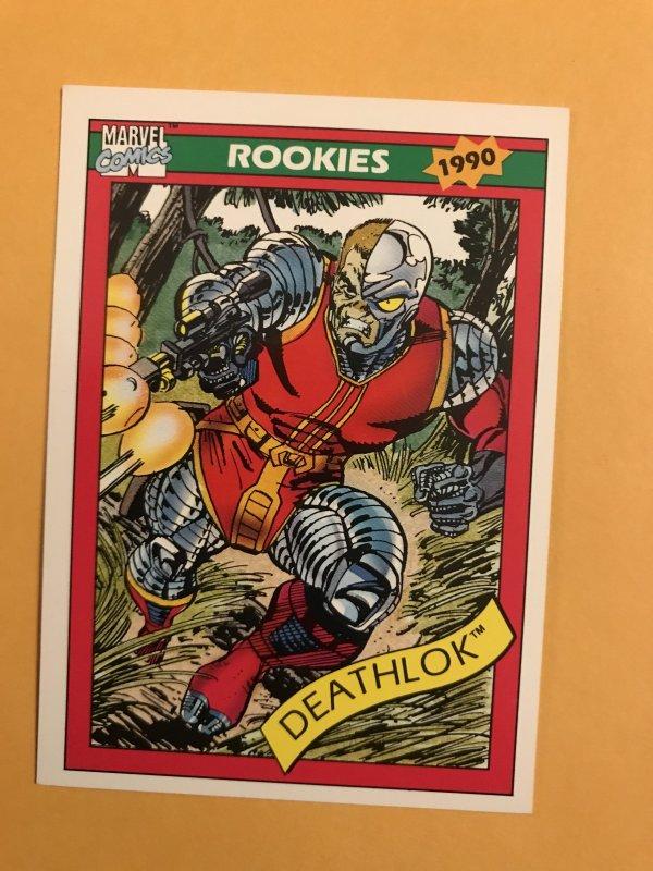 DEATHLOK #83 : 1990 Marvel Universe Series 1 card, NM/M,  Rookies