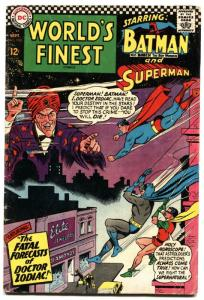 WORLD'S FINEST #160-1966-BATMAN/SUPERMAN-DC VG