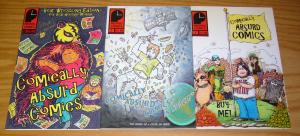 Comically Absurd Comics #1-3 VF/NM complete series - sonic the hedgehog - signed