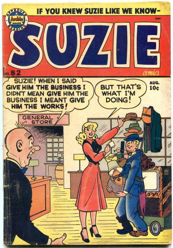 SUZIE #82 1951-ARCHIE COMICS-KATY KEENE-GINGER-TV SET COVER--- VG