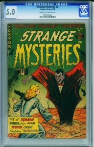 STRANGE MYSTERIES #3 CGC 5.0-VAMPIRE-PRE-CODE HORROR 1221206007