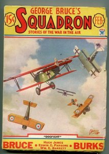 GEORGE BRUCE'S SQUADRON 02/1934-WWI-TINSLEY-BI-PLANES-DOG FIGHT-fn