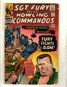 Sgt. Fury # 27 VG Marvel Comic Book Nick Fury Reichland Eye Patch Origin HY1