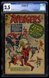 Avengers #6 CGC GD+ 2.5 Off White 1st Baron Zemo!