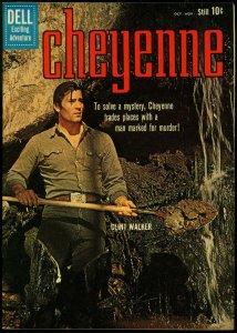 Cheyenne #18 1960 - Clint Walker photo cover- Dell TV Western NM