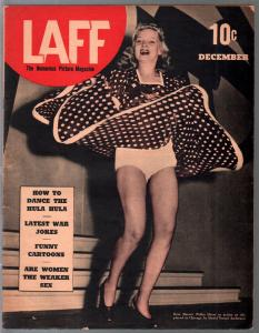Laff 12/1939-Priscilla art-cheesecake pix-Hitler joke-cartoons-pre WWII-FN