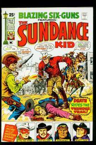 Blazing Six Guns #1 1971- Red Mask- Wyatt Earp- Geronimo- VF