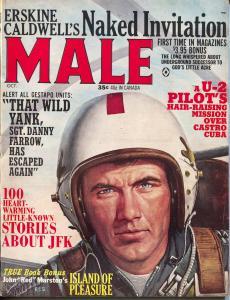 Male 10/1964-Atlas-JFK stories-U-2 pilot-Goodyear Rubber-cheesecake-crime-FN