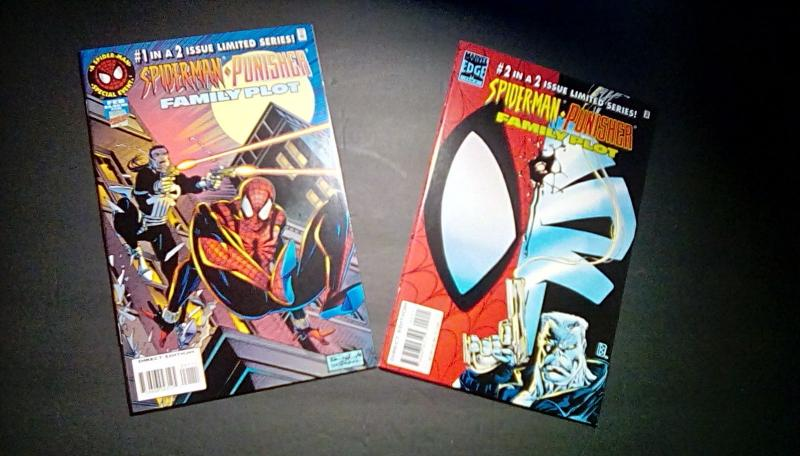 Spider-Man Punisher Family Plot (1996) #1 & #2 (FREE EXPEDITED SHIPPING USA!!!