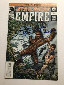 Star Wars Empire 22 Very Good Vg 4.0 Signed Peter Mayhew Dark Horse Comics