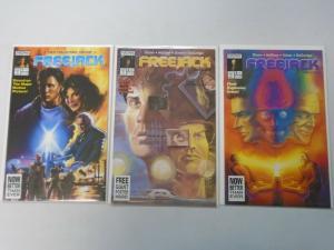 Freejack set #1-3 8.0 VF (1992)